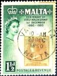 Stamps : Europe : Malta :  Intercambio hb1r 0,20 usd 1,5 p.1960