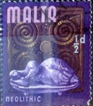 Stamps : Europe : Malta :  Intercambio 0,20 usd 1/2 p.1965