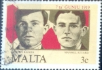 Stamps : Europe : Malta :  Intercambio 0,25 usd 3 cent.1985