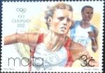 Stamps Malta -  Intercambio nfxb 0,25 usd 3 cent.1992