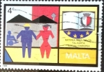 Stamps : Europe : Malta :  Intercambio 0,35 usd 4 cent. 1989