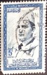 Sellos de Africa - Marruecos -  Intercambio 0,20 usd 5 fr. 1956