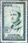 Stamps Morocco -  Intercambio 0,20 usd 30 fr.  1957