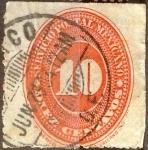 Sellos de America - México -  Intercambio crxf 0,35 usd 10 cent. 1890