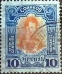Sellos de America - México -  Intercambio 0,35 usd 10 cent. 1910