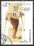 Sellos de Asia - Laos -  Juegos Olímpicos de Albertville 1992