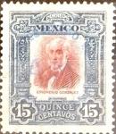 Stamps Mexico -  Intercambio 0,50 usd 15 cent. 1910