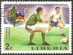 Sellos del Mundo : Africa : Liberia : Copa Mundial de Fútbol de 1974-Australia v E. Germany