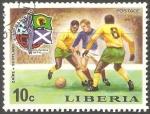 Sellos del Mundo : Africa : Liberia : Copa Mundial de Fútbol de 1974