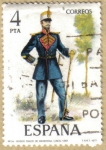 Stamps Europe - Spain -  UNIFORMES - Tambor Mayor de Infanteria 1861
