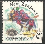 Stamps New Zealand -  White water rafting