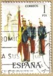 Sellos del Mundo : Europa : España : UNIFORMES - Abanderado Infanteria Rgto. Rey 1908