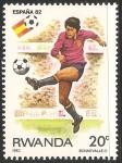 Sellos del Mundo : Africa : Rwanda : Copa Mundial de Fútbol de 1982