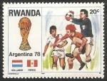 Sellos de Africa - Rwanda -  Copa Mundial de Fútbol de 1978