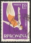 Sellos de Europa - Rumania -  trampolín