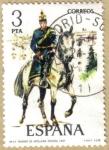 Sellos del Mundo : Europa : España : UNIFORMES - Teniente de Artilleria Rodada 1912
