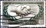Sellos de America - México -  Intercambio crxf 0,20 usd 40 cent. 1965