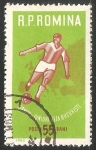 Stamps Romania -  Football player