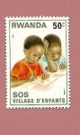 Stamps Africa - Rwanda -  SOS niños - Aldeas Infantiles