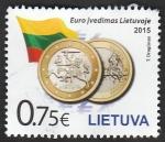 Sellos de Europa - Lituania -  Moneda euro