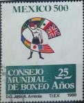 Stamps : America : Mexico :  Intercambio crxf 0,35 usd 500 p. 1988