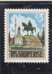Stamps Albania -  estatua