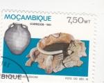 Stamps Mozambique -  vasijas