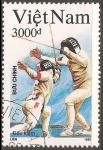 Sellos de Asia - Vietnam -  Juegos Olímpicos de Barcelona 1992-esgrima