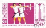 Stamps Mongolia -  juegos olímpicos - Moscu 1980