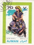 Stamps United Arab Emirates -  traje tìpico