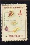 Stamps Macau -  mapa  de Macau