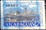 Stamps : America : Nicaragua :  Intercambio 0,20 usd 25 cent. 1957