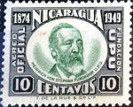Stamps : America : Nicaragua :  Intercambio 0,20 usd 10 cent. 1950