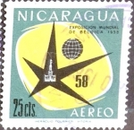 Stamps : America : Nicaragua :  Intercambio 0,20 usd 25 cent. 1958