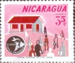 Stamps : America : Nicaragua :  Intercambio 0,20 usd 35 cent. 1964
