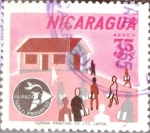 Stamps Nicaragua -  Intercambio 0,20 usd 35 cent. 1964