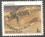 Sellos de Oceania - Australia -  Lace monitor-Monitor de encaje