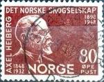 Sellos de Europa - Noruega -  Intercambio maxs 0,30 usd 80 ore 1948