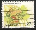 Sellos de Oceania - Australia -  Blue mountains tree frog-rana de árbol