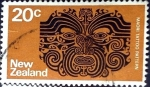 Stamps New Zealand -  Intercambio 0,20 usd 20 cent. 1971