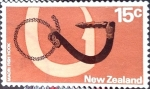 Stamps New Zealand -  Intercambio 0,20 usd 15 cent. 1971