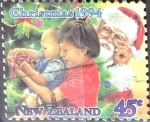 Stamps New Zealand -  Intercambio crxf 0,55 usd 45 cent. 1994