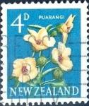 Sellos de Oceania - Nueva Zelanda -  Intercambio 0,20 usd 4 p. 1960