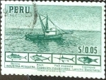 Stamps Peru -  Intercambio 0,20 usd 0,05 s. 1952