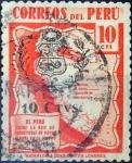 Stamps : America : Peru :  Intercambio hb1r 0,20 usd 10 s. 10 cent. 1943