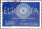 Stamps : Europe : Portugal :  Intercambio 0,20 usd 1 e. 1960