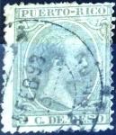 Stamps : America : Puerto_Rico :  Intercambio jxi 0,20 usd 5 cent. 1892