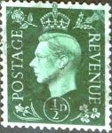 Sellos de Europa - Reino Unido -  Intercambio 0,25 usd 1/2 p. 1937