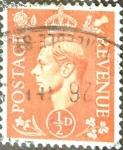 Sellos de Europa - Reino Unido -  Intercambio 0,20 usd 1/2 p. 1950