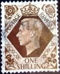 Sellos de Europa - Reino Unido -  Intercambio 1,00 usd 1 sh. 1939